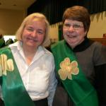 Knights and Ladies dinner celebration at Cauley Auditorium after the Saint Patrick's day parade.