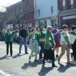 Saint Patricks Day Parade with Knights and Ladies
